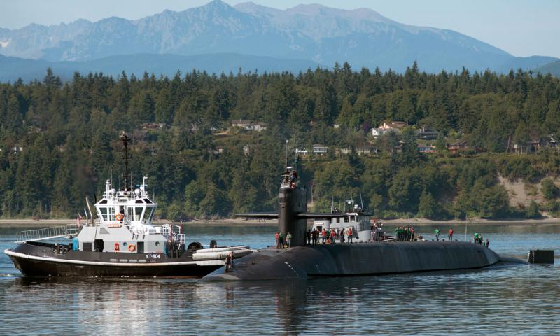 The USS Michigan returned to Washington last August from a 20-month deployment. Amanda R. Gray/U.S. Navy photo