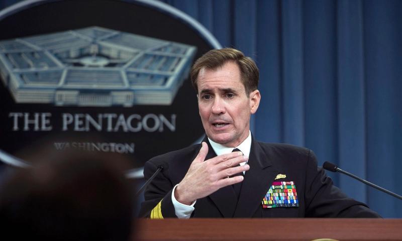 Adm. John Kirby speaks at the Pentagon in Arlington, Va., April 22, 2014. ERIN A. KIRK-CUOMO/DEPARTMENT OF DEFENSE