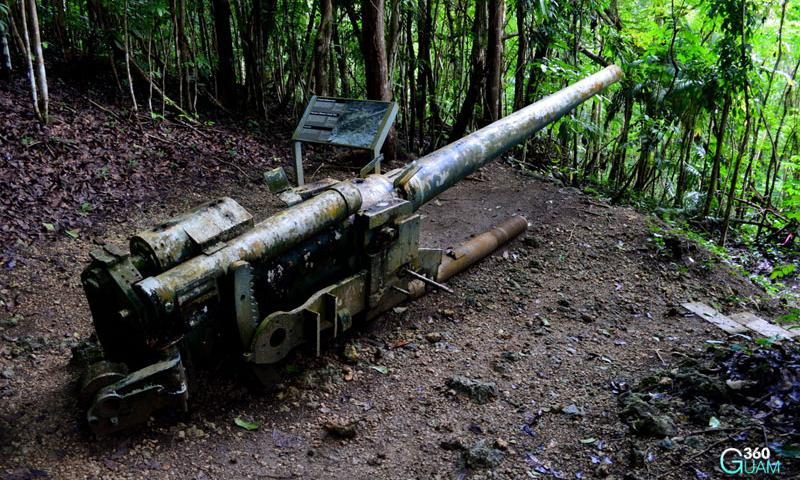 Piti guns japanese 14 millimeter guns from world war ii stripes guam world war ii travel photo courtesy of 360guam gumiabroncs Image collections