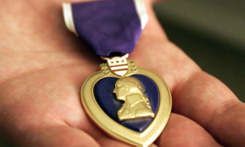 A Purple Heart medal.  TNS file photo