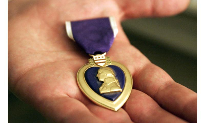 A Purple Heart.  Chris Joseph Taylor/Seattle Times/MCT