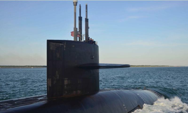 The Ohio-class ballistic missile submarine USS Wyoming returns to Naval Submarine Base Kings Bay in June 2014.  Rex Nelson/U.S. Navy