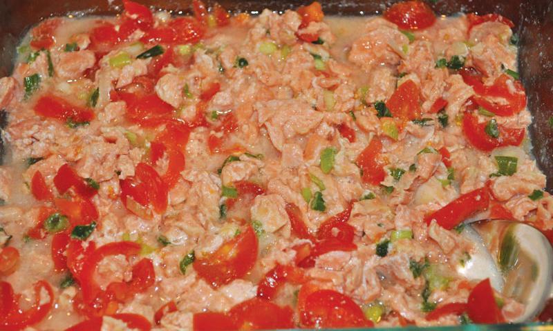 Salmon Kelaguen. Photo courtesy of Annie's Chamorro Kitchen