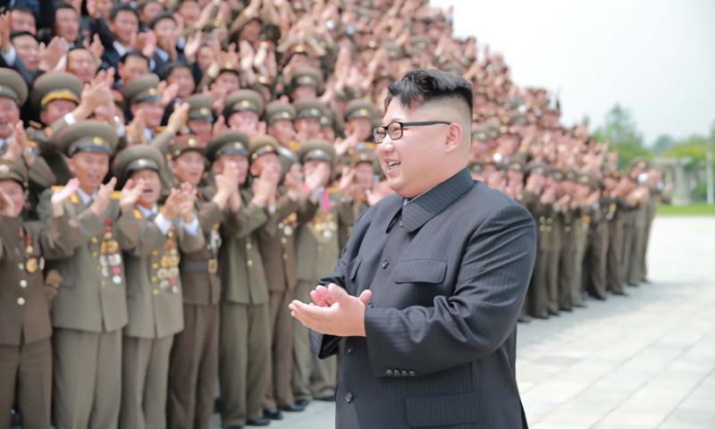 "North Korean leader Kim Jong Un congratulates hundreds of North Korean generals, scientists, technicians and others who contributed to last week's ""successful"" missile test, state media said Wednesday, June 29, 2016. 	 KCNA"