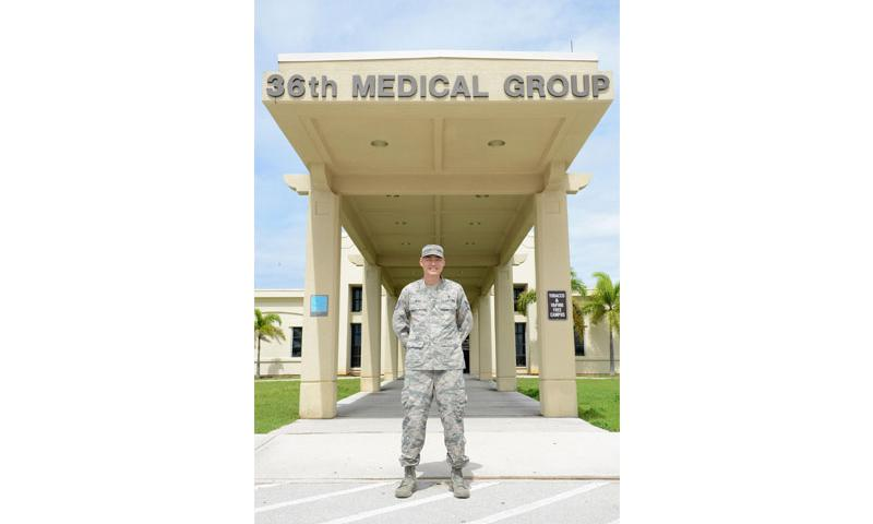Staff Sgt. Jason Blas, 36th Medical Support Squadron pharmacy flight chief, helped saved the life of a tourist Aug. 5, 2016, at Gun Beach in Tamuning, Guam. With his experience as a former lifeguard, and now a medical professional, Blas provided life-saving care to a man who was drowning before emergency responders arrived on scene.