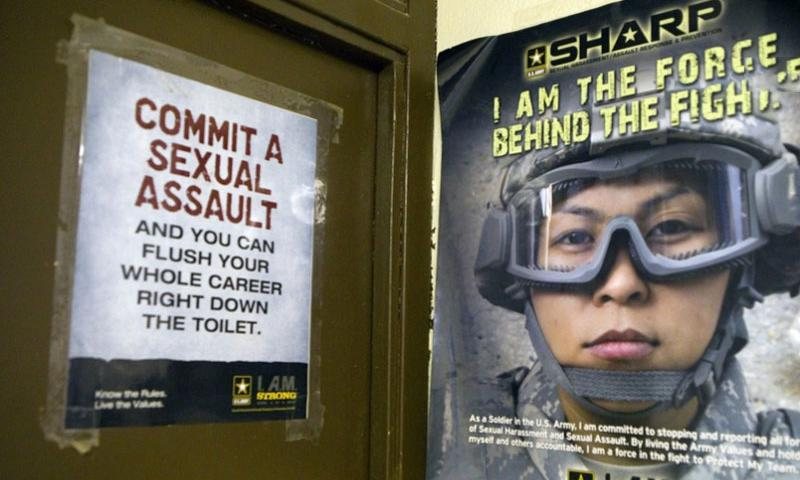 A poster in one of the barracks at Fort Leonard Wood in Missouri addresses the issue of sexual assault.    J.B. Forbes, St. Louis Post-Dispatch/TNS