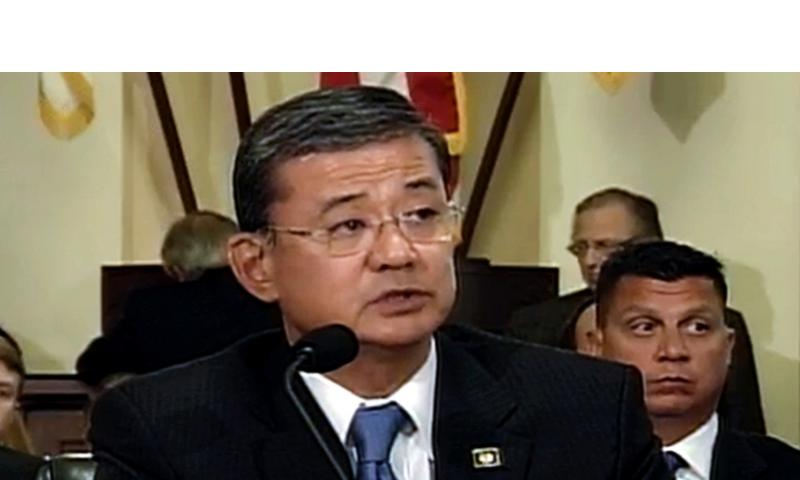 Veterans Affairs Secretary Eric Shinseki, at a House Veterans Affairs Committee on Wednesday, October 9, 2013. FROM A U.S. HOUSE VIDEO