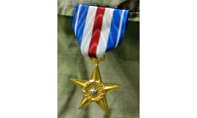 The Silver Star is the third highest award for gallantry among Army awards. (U.S. Army photo by Staff Sgt. Rebekah-mae Bruns, 39th Brigade Combat Team Public Affairs) U.S. ARMY