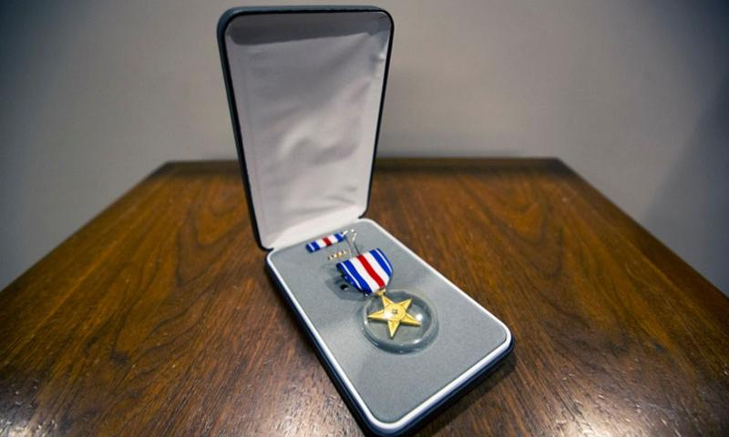 The Silver Star is the third-highest military decoration for valor awarded to servicemembers.     Orrin Farmer/U.S. Marine Corps