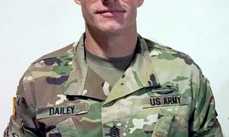 """Army Sgt. Maj. Daniel Dailey demonstrates the """"sleeves out"""" roll. U.S. Army"""