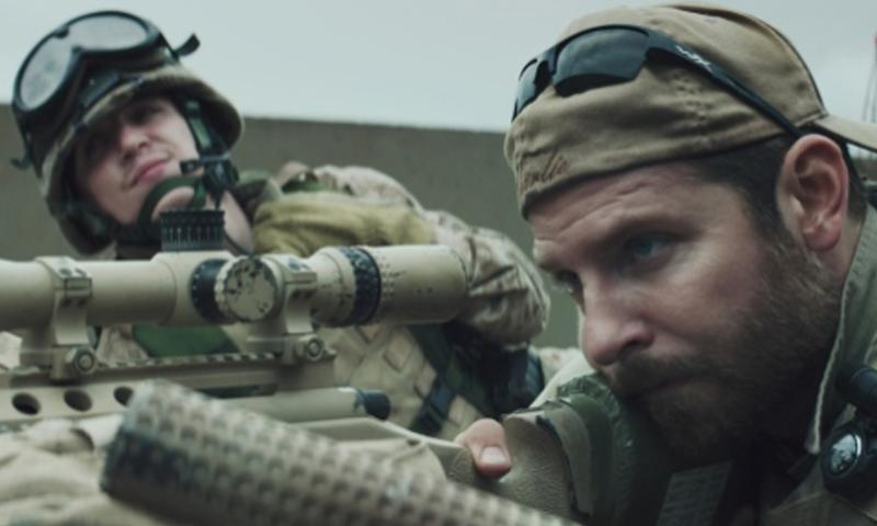 "Kyle Gallner, left, as Goat-Winston and Bradley Cooper as Chris Kyle star in Warner Bros. Pictures' and Village Roadshow Pictures' drama ""American Sniper.""  Warner Bros. Pictures/Tribune News Service"