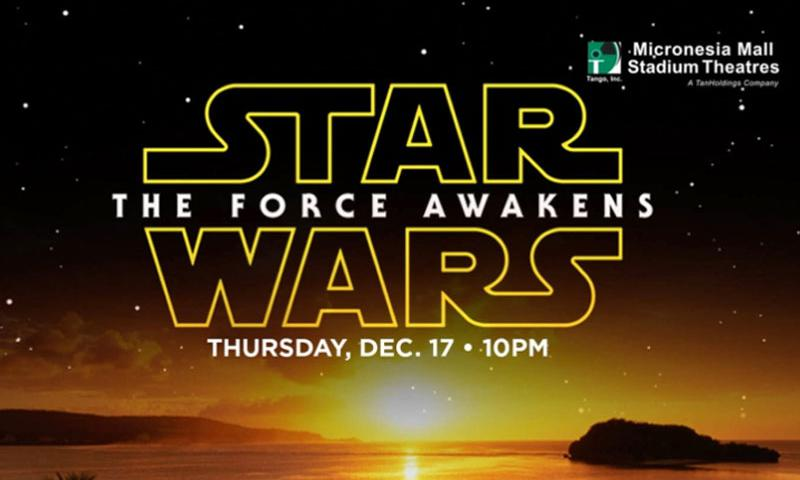 "Proximity to the international dateline will allow island theatergoers to be among the first Americans to view ""Stars Wars: The Force Awakens"" when the film opens Dec. 18, 2015. Guam Visitors Bureau is throwing a ticket-giveaway that will allow two people to view the highly anticipated sequel a day early.  Courtesy of Guam Visitors Bureau"