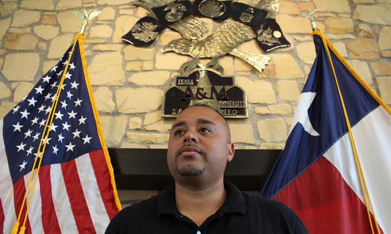 Jose Ramirez at the Patriots Casa at Texas A&M University-San Antonio on Sept. 13, 2016. Alex Horton/Stars and Stripes