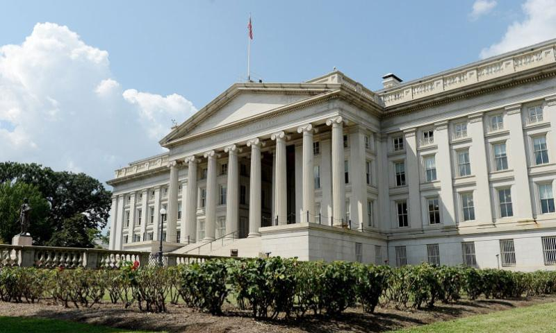 The U.S. Treasury Department building in Washington, D.C., is seen on Thursday, August 22, 2013.  Chuck Myers/MCT
