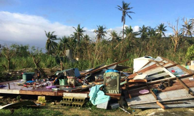The remnants of a home on Saipan. It's one of many destroyed when Typhoon Soudelor struck the U.S. commonwealth island on Aug. 3, 2015.    Courtesy of United 4 Saipan/Facebook