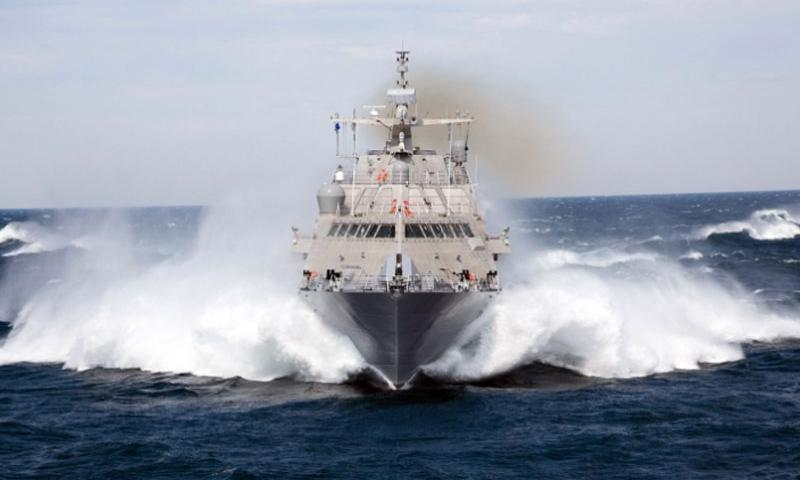 Slicing its way through the choppy waters of Lake Michigan, the USS Milwaukee (LCS 5) passed its final test on Sept. 18, 2015 and is now reporting for duty to the South China Sea.     Lockheed Martin