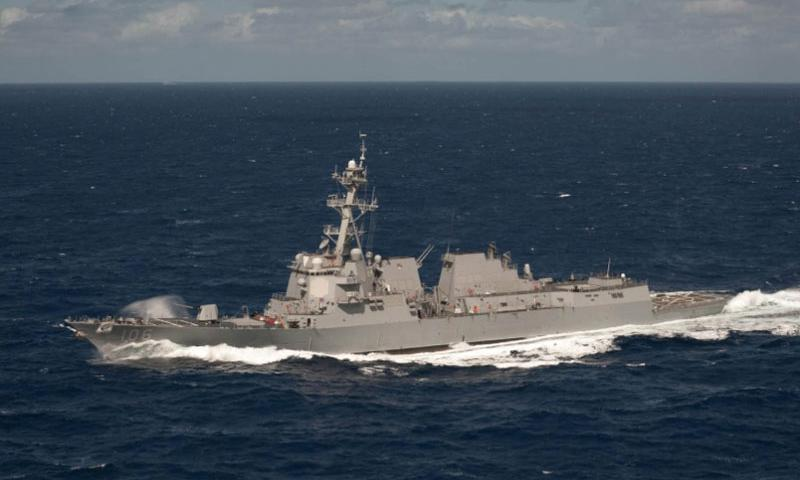 The USS Stockdale transits the western Pacific in early 2013. The guided-missile destroyer is in Indonesia for Multilateral Naval Exercise Komodo 2016.  David Hooper/U.S. Navy