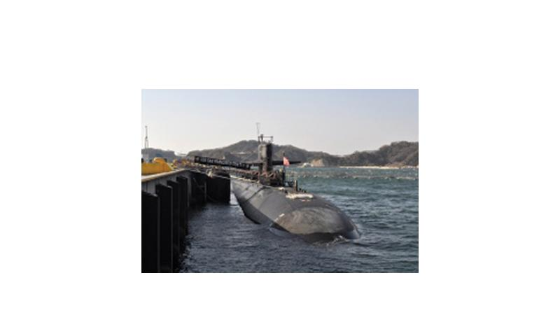 The Los Angeles-class attack submarine USS San Francisco is moored at Fleet Activities Yokosuka in January 2013 during a deployment to the western Pacific region. David Mercil/Courtesy U.S. Navy