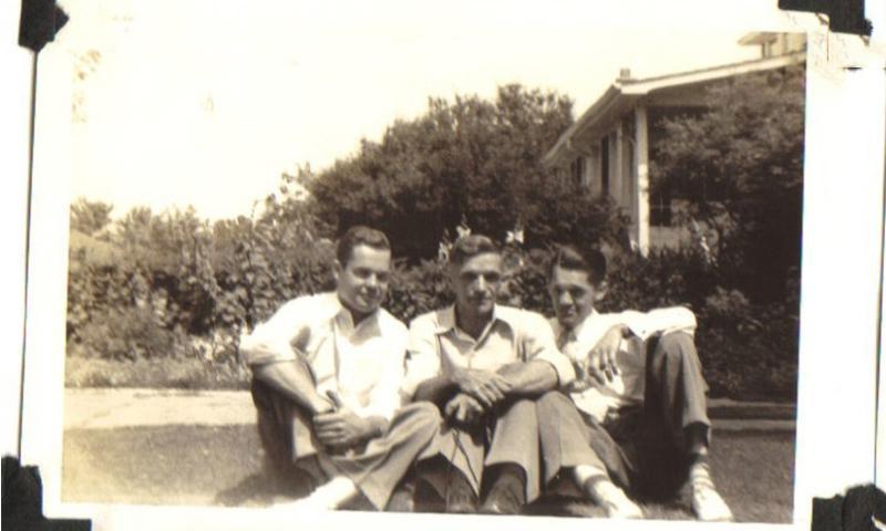 "From left, Army Pvt. Arthur ""Bud"" Kelder, Bud's father Herman, and brother Herman.    Courtesy of Doug Kelder"