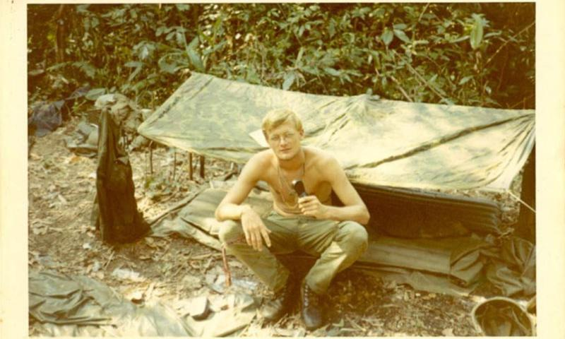 Andy Richards in the bush during the Vietnam War.    Courtesy of Andy Richards