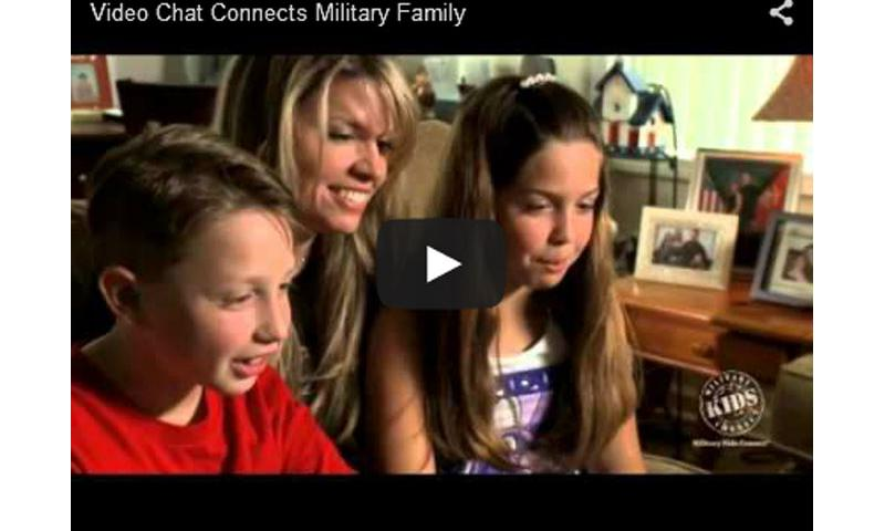 In this video from Military Kids Connect, two kids talk about how they stay in touch with their military dad when he is posted overseas.