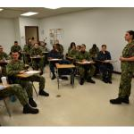 GREAT LAKES, Il (Jan. 19, 2018) Navy Military Training Instructor Boatswain's Mate 1st Class Cynthia Bartlett at Training Support Center (TSC) holds a training seminar for students at the command. TSC continues the overall sailorization process started at Recruit Training Command to prepare Sailors for the Fleet. (U.S. Navy photo by Brian Walsh/Released)