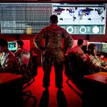 Cyberwarfare specialists serving with the 175th Cyberspace Operations Group of the Maryland Air National Guard engage in weekend training at Warfield Air National Guard Base, Middle River, Md., June 3, 2017. (Air Force photo by J.M. Eddins Jr.)