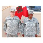 Army Chief Warrant Officer 4 Grace Davidson, a Harrisburg, Ark., native and Army Sgt. 1st Class Verdean Miller, an Albuquerque, N.M., native, both joined the U.S. Army as active duty soldiers in the Women's Army Corps in 1975. Davidson and Miller continue to mentor younger soldiers as Army reservists with the 90th Sustainment Brigade, based out of North Little Rock, Ark. U.S. Army photo by Spc. Charlotte Martinez