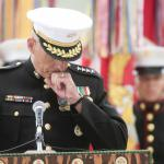 Marine Gen. John Kelly, who lost his son, Marine 1st Lt Robert Kelly, during Operation Enduring Freedom, speaks at the dedication of a memorial Thursday, June 6, 2013, at the San Mateo Memorial Garden in Camp Pendleton, Calif. Mark Boster/Los Angeles Times
