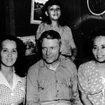 Agueda Johnston, far right, is shown here with George Tweed after World War II. She was in contact with Tweed during the Japanese occupation while he was hiding from the Japanese. Photo by Johnston Family Collection/Micronesian Area Research Center (MARC)