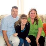 The Suchek family, from left, Steve, Cheyenne and Kim