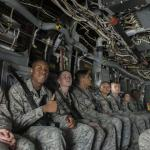 Air Force Junior ROTC cadets take a familiarization flight in a 1st Special Operations Wing aircraft at Hurlburt Field, Fla., June 27, 2017. Headquarters AFJROTC has started a new Flight Academy scholarship program that could one day turn some cadets into pilots on military or commercial aircraft to help address the nation's aircrew crisis. (U.S. Air Force photo by Airman 1st Class Joseph Pick)