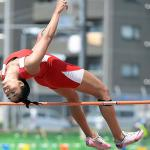 Nile C. Kinnick senior Exotica Hall plans to chase the northwest Pacific high jump mark of 1.67 meters; she reached 1.65 last spring.  DAVE ORNAUER/STARS AND STRIPES