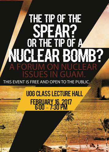Tip of a Nuclear Weapon Forum to be held on February 16 | Stripes Guam